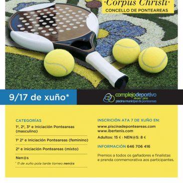 "Torneo de Pádel ""Corpus Christi"" Concello de Ponteareas 9 a 17 de Xuño"
